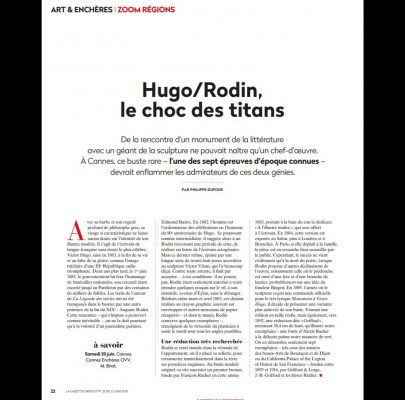 Hugo - Rodin : le choc des titans