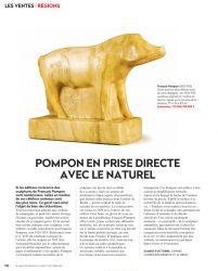 Gazette Drouot Pompon en prise directe avec le naturel