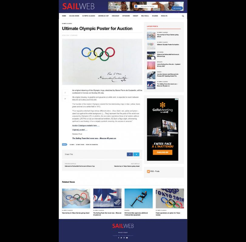 Ultimate Olympic Poster for Auction